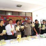 Direktorat Narkoba Sumatra Utara Bongkar Sindikat Narkoba Internasional Asal Malaysia