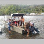 Warga Terisolasi Akibat Banjir Lava Gunung Karangetang, Lanal Tahuna Evakuasi Lewat Laut