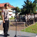 Kapolres Tomohon Pimpin Apel Pergeseran Pasukan Pengamanan TPS