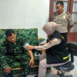 Biddokes Polda Banten, Cek Kesehatan Petugas Pengamanan Pemilu 2019