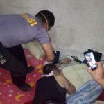 Polisi Olah TKP Lokasi Penemuan Mayat Pria Paruh Baya