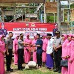 HUT Bhayangkara ke-73, Polres Aceh Timur Bedah Dua Rumah Warga Peudawa
