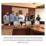 Serikat Pekerja Semen Padang dan Politisi Gerindra  Laporkan Produsen Semen China ke KPPU