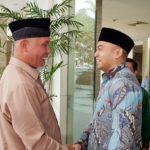 Cagub Milineal Audy Bertemu Cagub Mahyeldi pada Harlah PPP di Padang