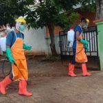 PMI Alor Gandeng TNI dan Polri Penyemprotan Disinfektan Sarana Umum