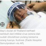Bayi Usia Satu Bulan di Thailand Sembuh dari Virus Corona