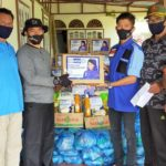 Rezka Oktoberia Peduli Kampung Halaman, Salurkan Ratusan Paket Sembako